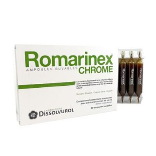 Romarinex chrome 20 ampoules de 10ml