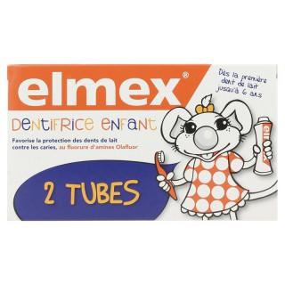 Elmex dentifrice enfant de 2 à 6 ans - 2 x 50ml