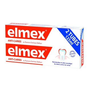 Elmex dentifrice protection anti-caries - 2 x 125 ml