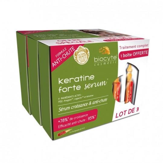 Biocyte Kératine forte sérums - Lot de 3 x 5 ampoules de 9 ml