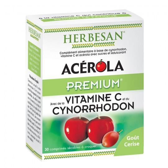 Herbesan Acérola premium - 30 comprimés à croquer