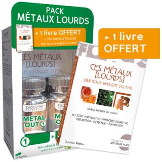 Biocyte pack métaux lourds - 2 x 90 gélules + Livre offert