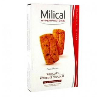 Milical Biscuits hyperprotéinés aux pépites de chocolat - 16 biscuits