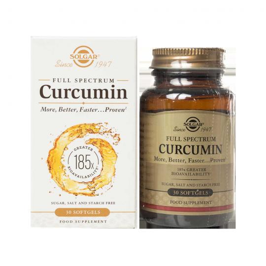 Solgar Full spectrum Curcumin - 30 softgels