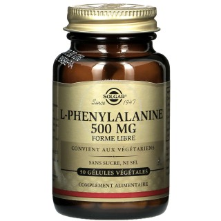 Solgar L-Phenylalanine 500 mg - 50 gélules végétales