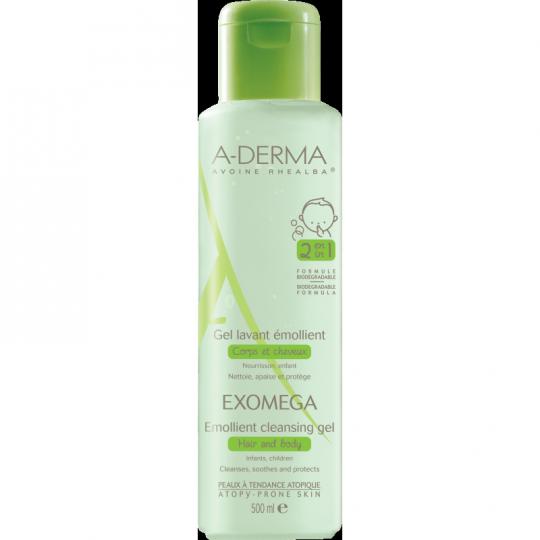 A-Derma Exomega Control gel lavant émollient - 500ml