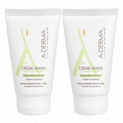 A-Derma crème mains protectrice - 2 x 50 ml