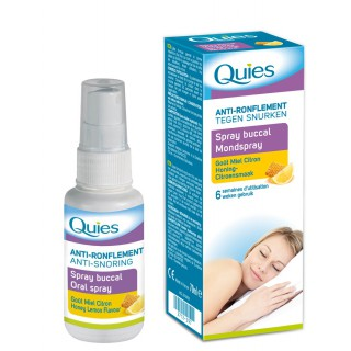 Quies Anti Ronflement Spray Buccal Goût Miel Citron