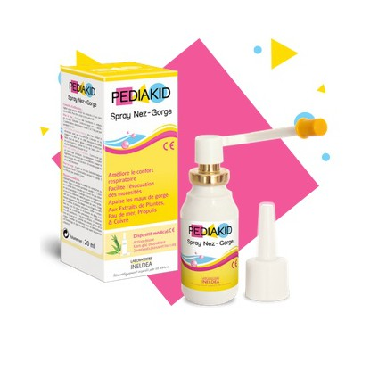 Pediakid spray nez gorge 20ml + 2 embouts
