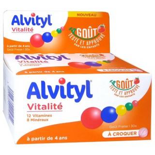 Alvityl Vitalité fraise - 30 comprimés à croquer