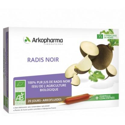 Arkofluides Radis noir Bio - 20 ampoules