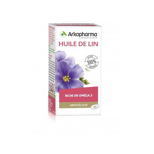 Arkogélules huile de lin - 60 capsules