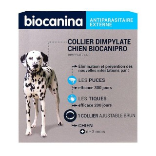 Biocanipro Collier insecticide chien - 1 collier de 30g