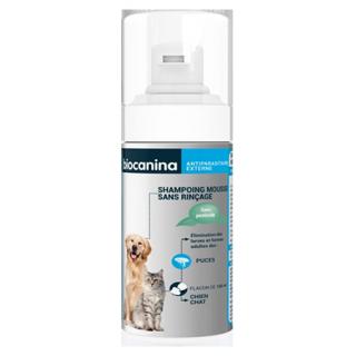 Biocanina Shampoing mousse sans rinçage pour chien et chat - 150ml