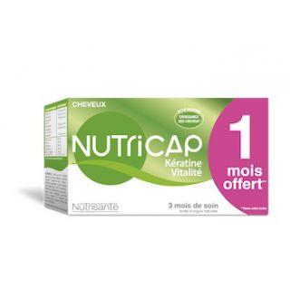 Nutricap Cheveux Kératine Vitalité 3 mois de cure
