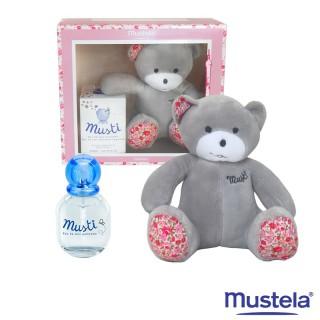 Mustela Coffret Musti pour fille - Eau de soin parfumée avec peluche offerte