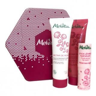 Melvita Coffret Nectar de Rose - 3 soins pour le corps
