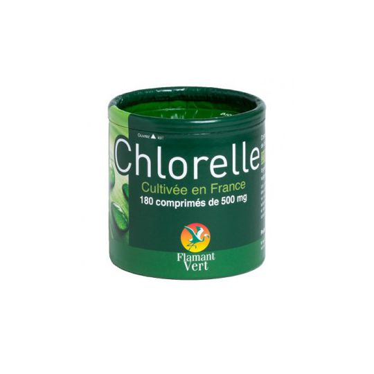 Chlorelle Flamant Vert 180 Comprimés à 500mg