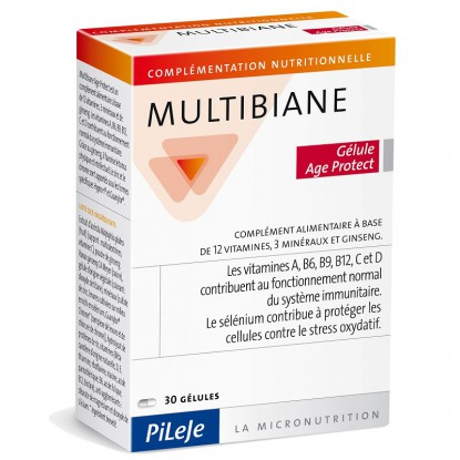 Pileje Multibiane Age Protect - 30 gélules