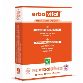 Erbalab Erbavital multivitamines et minéraux - 30 gélules