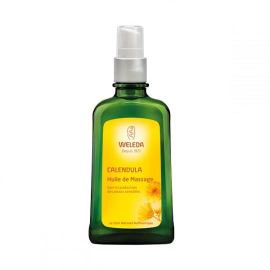 Weleda Huile de massage au Calendula - Flacon pompe de100 ml