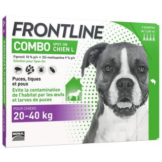 Frontline Combo 20-40kg x4 pipettes