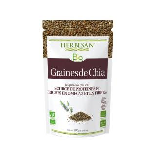 Herbesan Graines de Chia Bio - Sachet de 200g