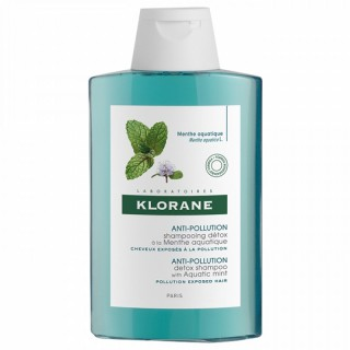 Klorane Shampooing Anti-pollution à la menthe aquatique - 200 ml