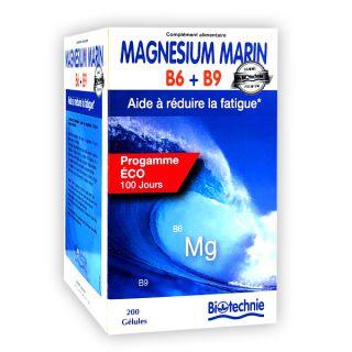 Magnésium marin B6 + B9 2x100 gélules Biotechnie