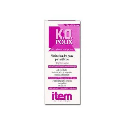 KO Poux Gel creme anti poux 100ml + peigne