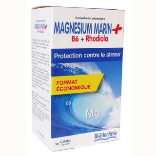 Magnesium Marin + B6 Rhodiola 75 gélules Biotechnie