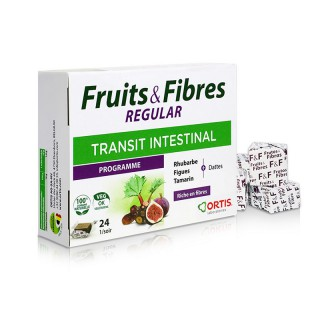 Ortis Fruits & Fibres Regular Transit intestinal - 24 cubes