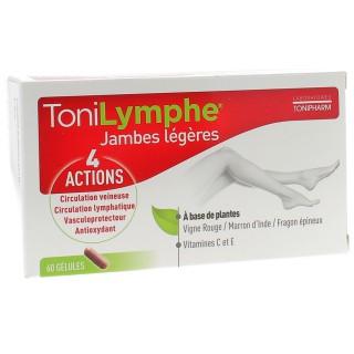 Tonipharm Tonilymphe jambes légères - 60 gélules
