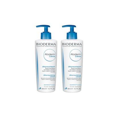 Bioderma Atoderm Crème Nourissante Sans Parfum Peaux Sensibles 500ml Duo