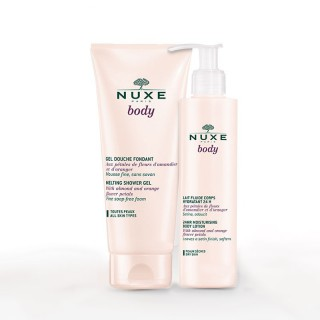 Nuxe Body Lait fluide corps hydratant 24H 400ml + Gel douche fondant 200ml