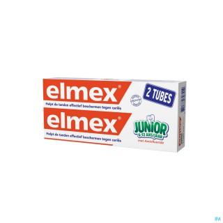 Elmex dentifrice junior 2 tubes de 75ml