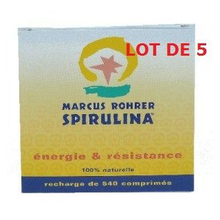 lot de 5 Spiruline Marcus Rohrer 540cp