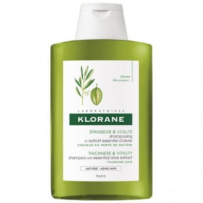 Klorane Shampooing épaisseur à l'extrait essentiel d'Olivier - 200ml