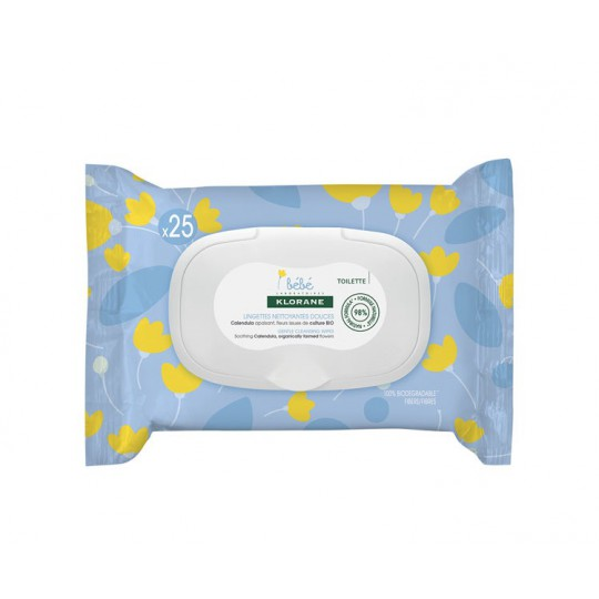 Klorane bébé Lingette nettoyante - 25 lingettes
