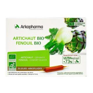 Arkofluides Artichaut Fenouil Bio - 20 ampoules