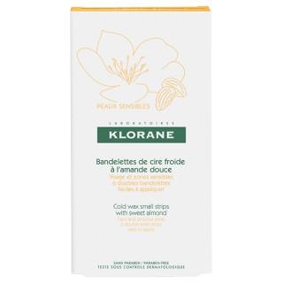 Klorane bandelettes de cire froide à l'amande douce - 6 unités