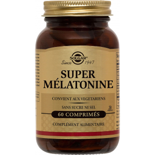 Solgar super Mélatonine 1.9 MG 60 Comprimés