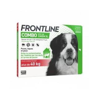 Fronline combo chien +40kg bte de 6