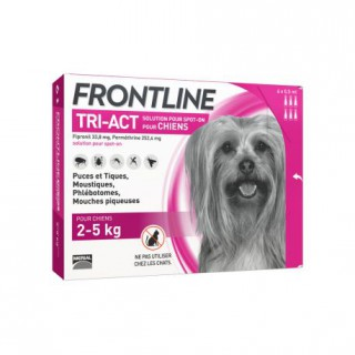 Frontline TRI-ACT Dog 2-5 kg 3 pipettes