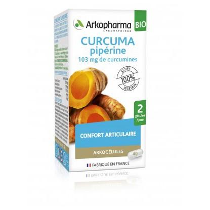 Arkogélule Curcuma Pipérine 45 Capsules