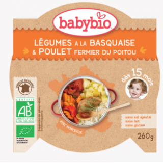 Babybio patate douce, tomate, colin, quinoa 2*200g
