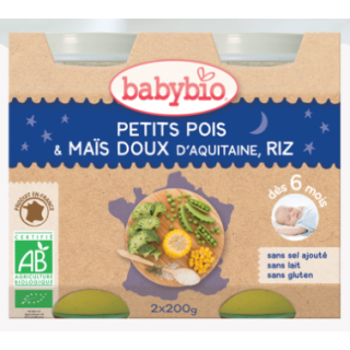 Babybio patate douce, tomate, colin, quinoa 2*200g