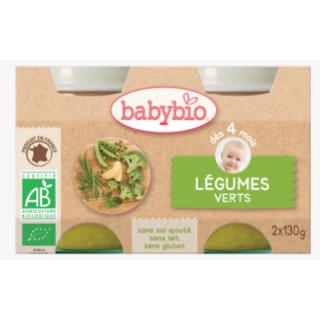 Babybio Légumes verts, dès 4 mois, 2*130g