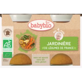 Babybio Jardinière de légumes de france, dès 4 mois, 2*130g