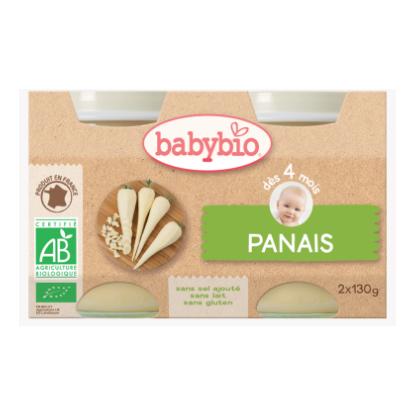 Babybio Panais du val de loire, dès 4 mois, 2*130g
